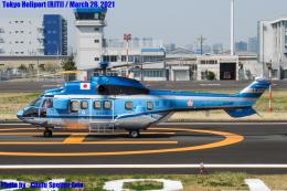 Chofu Spotter Ariaさんが、東京ヘリポートで撮影した警視庁 AS332L1 Super Pumaの航空フォト(飛行機 写真・画像)
