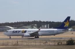 プルシアンブルーさんが、茨城空港で撮影したスカイマーク 737-8FZの航空フォト(飛行機 写真・画像)