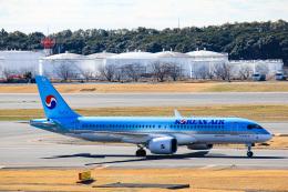 かっちゃん✈︎さんが、成田国際空港で撮影した大韓航空 A220-300 (BD-500-1A11)の航空フォト(飛行機 写真・画像)
