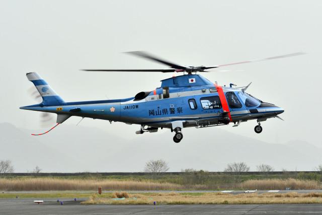 Gambardierさんが、岡南飛行場で撮影した岡山県警察 A109E Powerの航空フォト(飛行機 写真・画像)