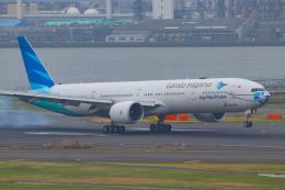 ぼのさんが、羽田空港で撮影したガルーダ・インドネシア航空 777-3U3/ERの航空フォト(飛行機 写真・画像)