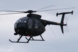 木人さんが、習志野演習場で撮影した陸上自衛隊 OH-6Dの航空フォト(飛行機 写真・画像)