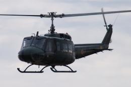 木人さんが、習志野演習場で撮影した陸上自衛隊 UH-1Hの航空フォト(飛行機 写真・画像)