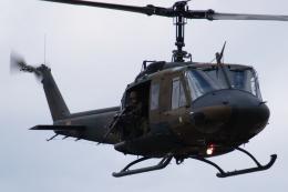 木人さんが、習志野演習場で撮影した陸上自衛隊 UH-1Jの航空フォト(飛行機 写真・画像)