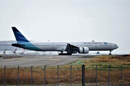 レドームさんが、羽田空港で撮影したガルーダ・インドネシア航空 777-3U3/ERの航空フォト(飛行機 写真・画像)