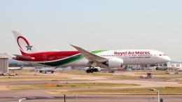 誘喜さんが、ロンドン・ヒースロー空港で撮影したロイヤル・エア・モロッコ 787-9の航空フォト(飛行機 写真・画像)