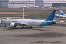 やつはしさんが、羽田空港で撮影したガルーダ・インドネシア航空 777-3U3/ERの航空フォト(飛行機 写真・画像)