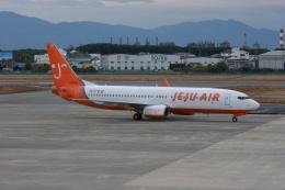 磐城さんが、松山空港で撮影したチェジュ航空 737-8Q8の航空フォト(飛行機 写真・画像)