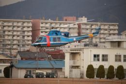 海鷹さんが、八尾空港で撮影した大阪府警察 412EPの航空フォト(飛行機 写真・画像)