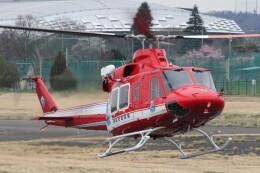 俊夫さんが、調布飛行場で撮影した静岡市消防航空隊 412EPの航空フォト(飛行機 写真・画像)