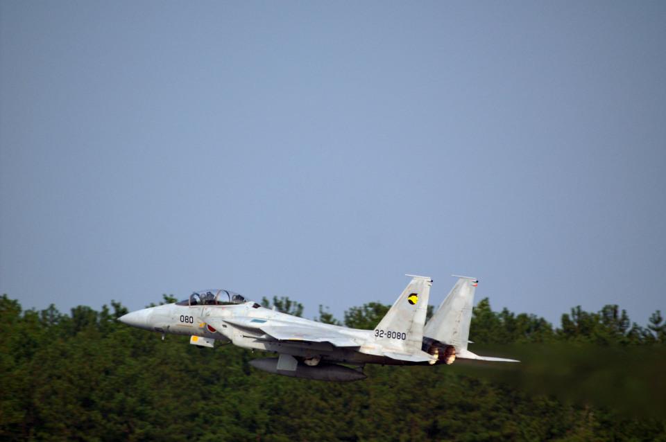 れぐぽよさんの航空自衛隊 Mitsubishi F-15DJ Eagle (32-8080) 航空フォト