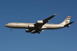 Deepさんが、成田国際空港で撮影したエティハド航空 A340-541の航空フォト(飛行機 写真・画像)