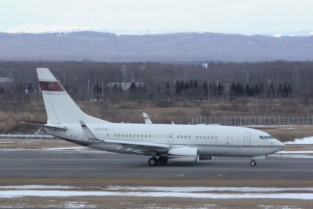 俊夫さんが、新千歳空港で撮影したアメリカ企業所有 737-7BC BBJの航空フォト(飛行機 写真・画像)
