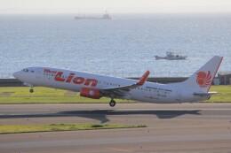 俊夫さんが、中部国際空港で撮影したタイ・ライオン・エア 737-8GPの航空フォト(飛行機 写真・画像)