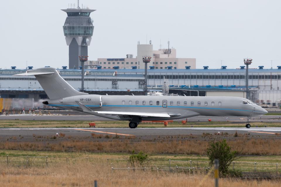 ぎんじろーさんの不明 Bombardier BD-700 Global Express/7000/8000 (VP-CSY) 航空フォト