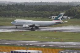 かんちゃんさんが、成田国際空港で撮影したキャセイパシフィック航空 747-412(BCF)の航空フォト(飛行機 写真・画像)