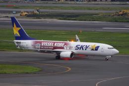 神宮寺ももさんが、羽田空港で撮影したスカイマーク 737-8ALの航空フォト(飛行機 写真・画像)