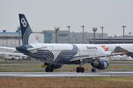 アルビレオさんが、成田国際空港で撮影したオーロラ A319-111の航空フォト(飛行機 写真・画像)