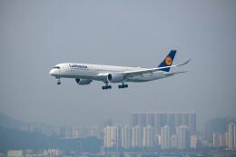 Kaaazさんが、香港国際空港で撮影したルフトハンザドイツ航空 A350-941の航空フォト(飛行機 写真・画像)