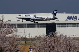 ☆ライダーさんが、成田国際空港で撮影したオーロラ A319-111の航空フォト(飛行機 写真・画像)