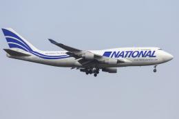 mameshibaさんが、成田国際空港で撮影したナショナル・エアラインズ 747-412(BCF)の航空フォト(飛行機 写真・画像)