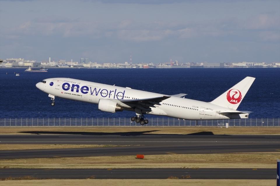あさかぜみずほさんの日本航空 Boeing 777-200 (JA771J) 航空フォト
