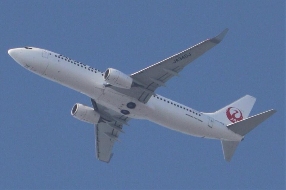BOEING737MAX-8さんの日本航空 Boeing 737-800 (JA340J) 航空フォト