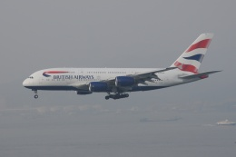 磐城さんが、香港国際空港で撮影したブリティッシュ・エアウェイズ A380-841の航空フォト(飛行機 写真・画像)