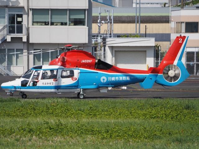 gennai04さんが、東京ヘリポートで撮影した川崎市消防航空隊 AS365N3 Dauphin 2の航空フォト(飛行機 写真・画像)
