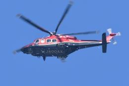 500さんが、自宅上空で撮影した朝日航洋 AW139の航空フォト(飛行機 写真・画像)