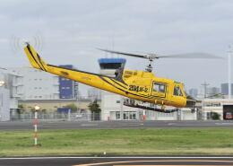 パンサーRP21さんが、東京ヘリポートで撮影したアカギヘリコプター 204B-2(FujiBell)の航空フォト(飛行機 写真・画像)