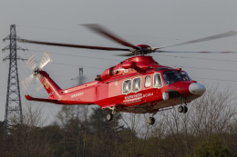 K-9さんが、群馬県内グラウンドで撮影した埼玉県防災航空隊 AW139の航空フォト(飛行機 写真・画像)