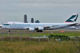 saoya_saodakeさんが、成田国際空港で撮影したキャセイパシフィック航空 747-867F/SCDの航空フォト(飛行機 写真・画像)