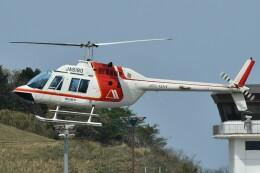 デデゴンさんが、石見空港で撮影した朝日航洋 206B JetRanger IIの航空フォト(飛行機 写真・画像)