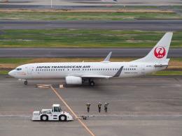 hirohirokinさんが、羽田空港で撮影した日本トランスオーシャン航空 737-8Q3の航空フォト(飛行機 写真・画像)
