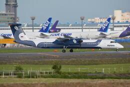 LEGACY-747さんが、成田国際空港で撮影したオーロラ DHC-8-402Q Dash 8の航空フォト(飛行機 写真・画像)