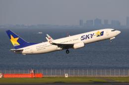 やつはしさんが、羽田空港で撮影したスカイマーク 737-8FZの航空フォト(飛行機 写真・画像)