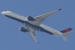 BOEING737MAX-8さんが、自宅付近から撮影で撮影したデルタ航空 A350-941の航空フォト(飛行機 写真・画像)