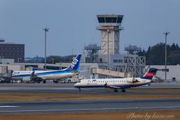 kazucamさんが、広島空港で撮影したアイベックスエアラインズ CL-600-2C10 Regional Jet CRJ-702ERの航空フォト(飛行機 写真・画像)