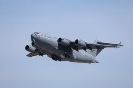 MIRAGE E.Rさんが、岩国空港で撮影したアメリカ空軍 C-17A Globemaster IIIの航空フォト(飛行機 写真・画像)