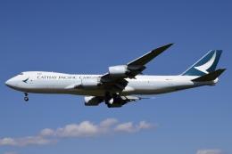 Timothyさんが、成田国際空港で撮影したキャセイパシフィック航空 747-867F/SCDの航空フォト(飛行機 写真・画像)