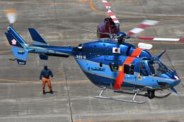 ほてるやんきーさんが、名古屋飛行場で撮影した愛知県警察 BK117C-1の航空フォト(飛行機 写真・画像)
