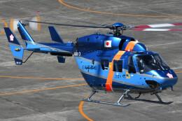 ほてるやんきーさんが、名古屋飛行場で撮影した茨城県警察 BK117C-1の航空フォト(飛行機 写真・画像)