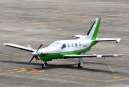 mojioさんが、名古屋飛行場で撮影した日本法人所有 TBM-700の航空フォト(飛行機 写真・画像)