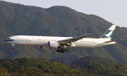 Asamaさんが、香港国際空港で撮影したキャセイパシフィック航空 777-367/ERの航空フォト(飛行機 写真・画像)