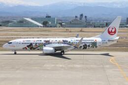 もにーさんが、小松空港で撮影した日本トランスオーシャン航空 737-8Q3の航空フォト(飛行機 写真・画像)