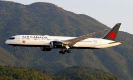Asamaさんが、香港国際空港で撮影したエア・カナダ 787-9の航空フォト(飛行機 写真・画像)