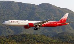 Asamaさんが、香港国際空港で撮影したロシア航空 777-31H/ERの航空フォト(飛行機 写真・画像)