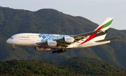 Asamaさんが、香港国際空港で撮影したエミレーツ航空 A380-861の航空フォト(飛行機 写真・画像)