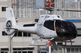 きりしまさんが、東京ヘリポートで撮影した日本個人所有 EC130T2の航空フォト(飛行機 写真・画像)